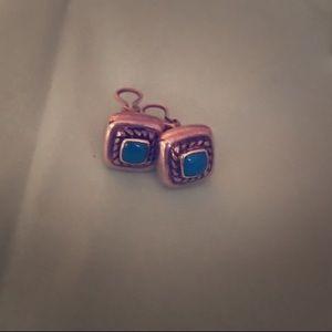 Brighton blue stone earrings