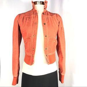 Mossimo rust, corduroy bomber jacket SZ XS