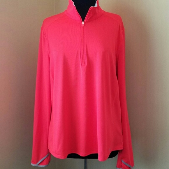 Danskin Now Jackets & Blazers - Danskin Orange Long Sleeve Athletic Jacket, XXL