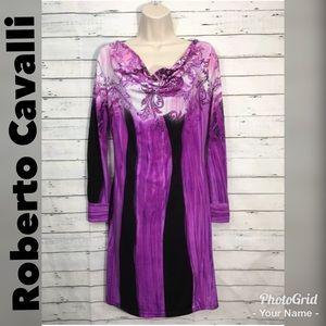 Class Roberto Cavalli Scooped Collar Shift Dress