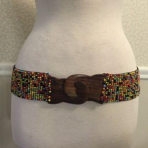 Beaded belt/wearable art