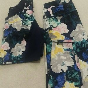 Old Navy active leggings and crop top set