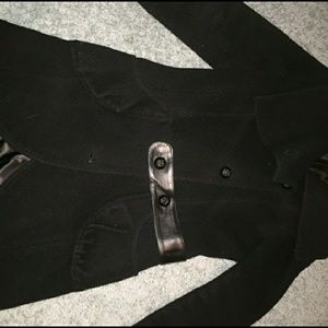 Mackage black wool coat.