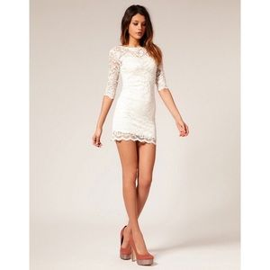 NWT Ivory lace bodycon dress
