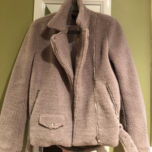 Brand new w tags misguided shearling biker jacket