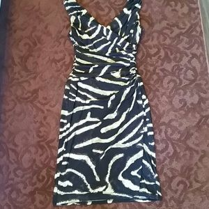 Ralph Lauren stretchy animal print dress