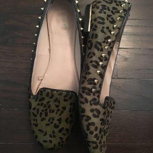 Zara green Cheeta Print Flats