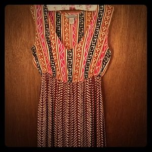 Boho tribal print dress