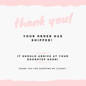 Shared to you when your order ships!