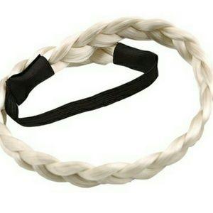Boho Festival Hair Braided Headband White