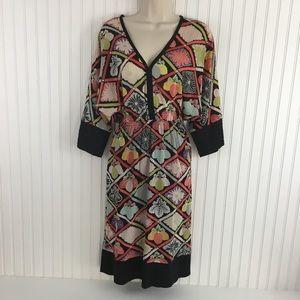 Trina Turk silk floral print kimono style dress