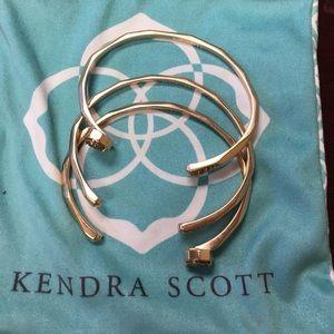 Kendra Scott Rose Gold Drusy Bangles WORN ONCE