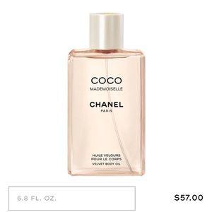 Coco chanel mademoiselle velvet body oil
