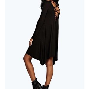 Long Sleeve Swing BooHoo Dress