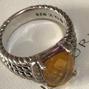 💛David Yurman Cintrine & Diamond Ring 💛! GORGEOUS