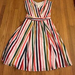 Multiple Striped Midi Dress