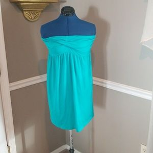 Teal bathing suit cover up