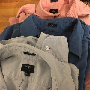 Bundle of 3 J. Crew Slim Fit Oxford Shirts