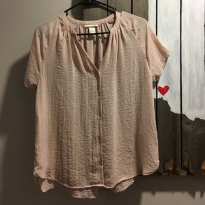 Pastel pink blouse from H&M.