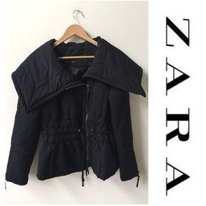 Zara Cowl Neck Puffer Coat