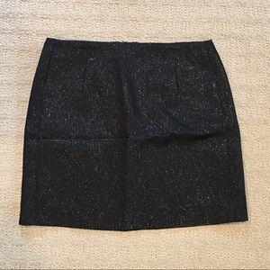 J. Crew black metallic mini skirt pockets 0