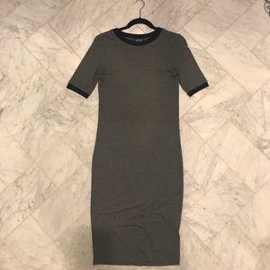 Topshop grey knit dress