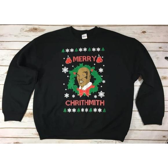 064d3472c077d9 Gildan Other - Mike Tyson Ugly Funny Christmas Sweatshirt - NEW
