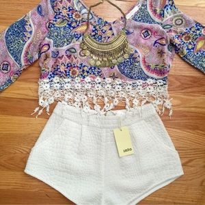 LF Milau Cropped Paisley Top 🌸