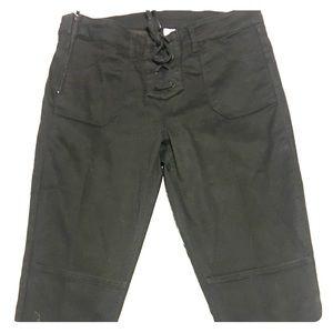 H&M Black Tie Front Pants