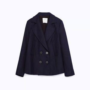 Zara cotton coat basic outerwear