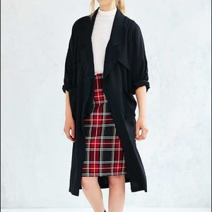 UNIF black lightweight duster trench coat Cardigan