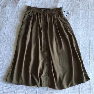 Forever 21 Olive Midi Skirt