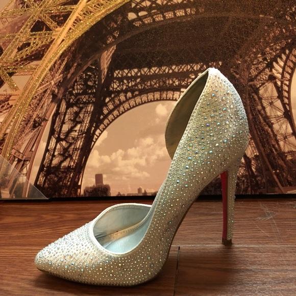 15d9644092 Charlotte Russe Shoes   Silver Pumps Wmulti Color Rhinestones   Poshmark