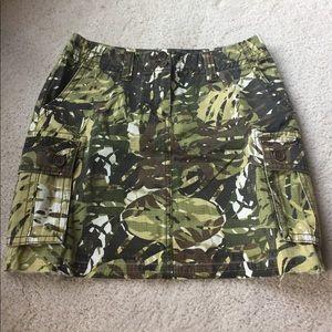 Cabi camo mini skirt