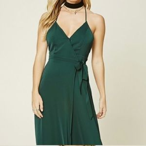💚Hunter Green 💚 Wrap Maxi
