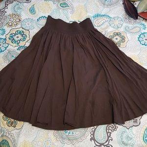 Brown Old Navy peasant skirt sz L