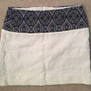 Zara white embroidered skirt