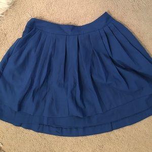 A-line blue skirt