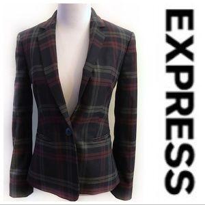 EXPRESS Plaid Blazer; Size 0