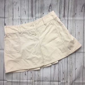 Old Navy   Sz 4 Cream Corduroy Skirt