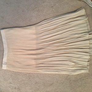 Forever 21 pleated skirt with mini skirt under