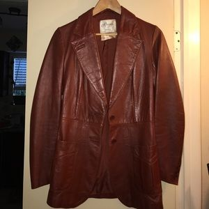 Vintage Spanish Leather jacket blazer