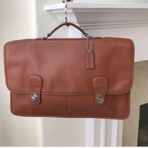NWOT Coach British Tan Leather LaptopBag/Briefcase