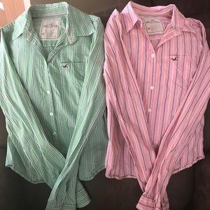 2 Hollister button down shirts