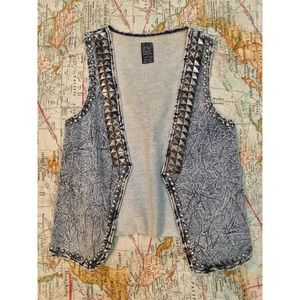 zαяα - Denim Studded Vest