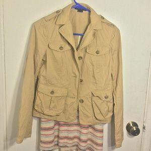Theory Khaki Safari Jacket