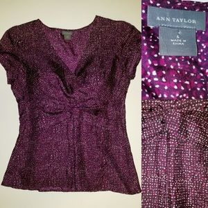 Ann Taylor Sz 6 short sleeve blouse.