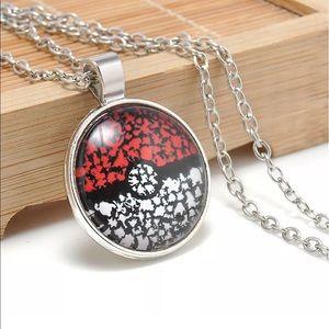 Other - 🆕Pokémon Pokeball Glass Dome Pendant Necklace