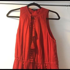 Madewell piazza dress size 4 red