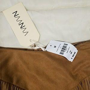 "LF Skirts - NWT LF ""Suede"" Fringe Skirt"
